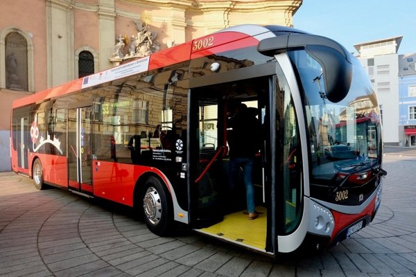 Electric bus in Bratislava