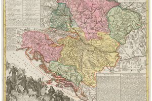 Johann Gottfried Eichler (1715 – 1770): Franciscan province in Hungary 1762 – 1780, etching, colorization.