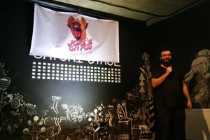 Siavash came with the idea of stand-up comedy in English.