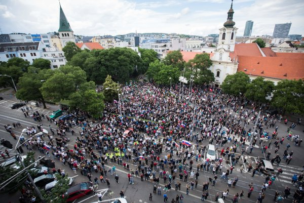 Bratislava saw extremists protest in June.