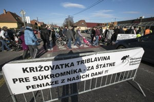 In March 2017, the project of Triblavina junction caused protests in the Vajnory borough of Bratislava.