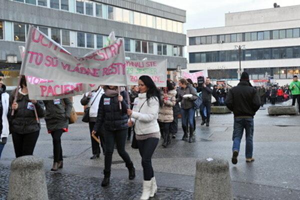 Nurses protest in Žilina