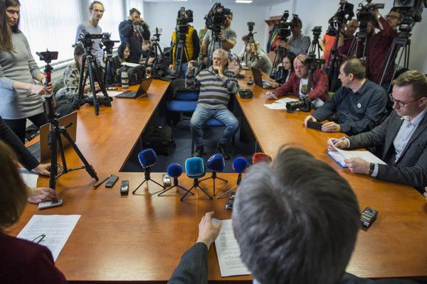 Press conference about the double murder of Ján Kuciak and Martina Kušnírová