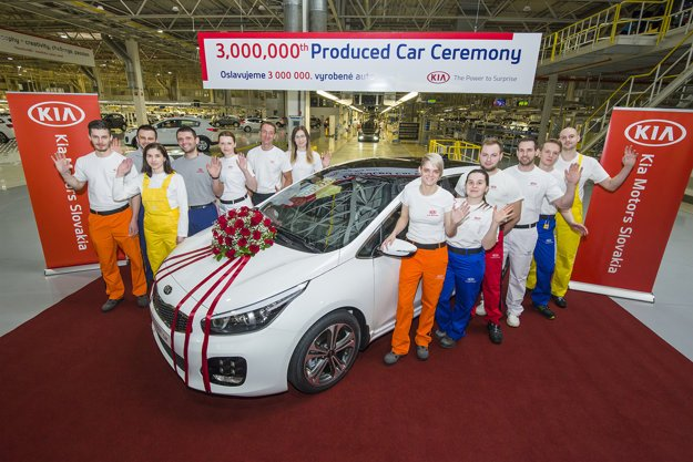 Celebrating the 3-millionth car produced