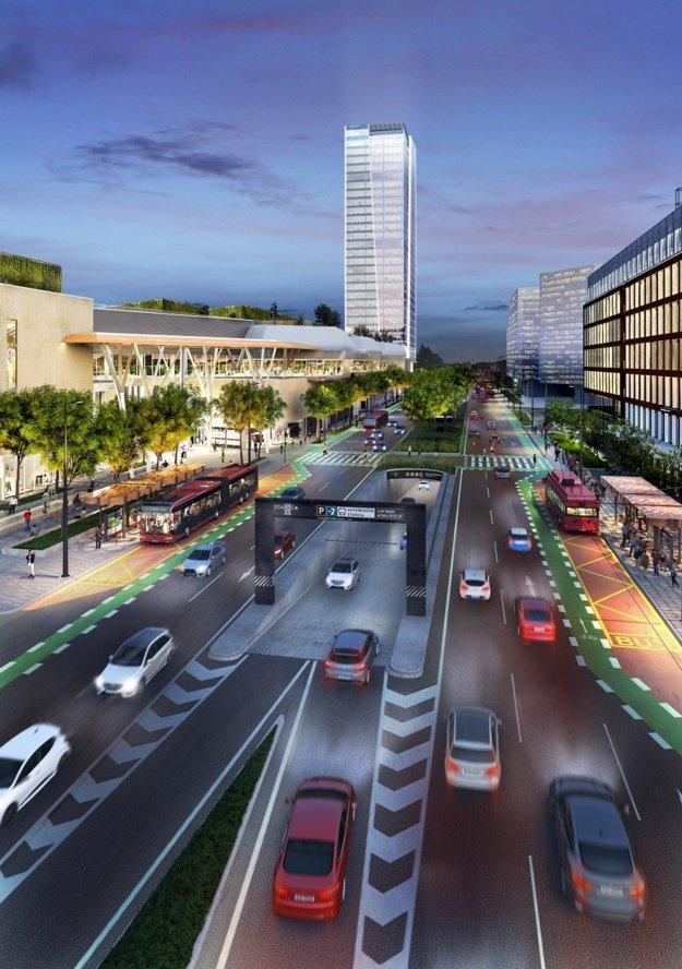 New Mlynské Nivy boulevard