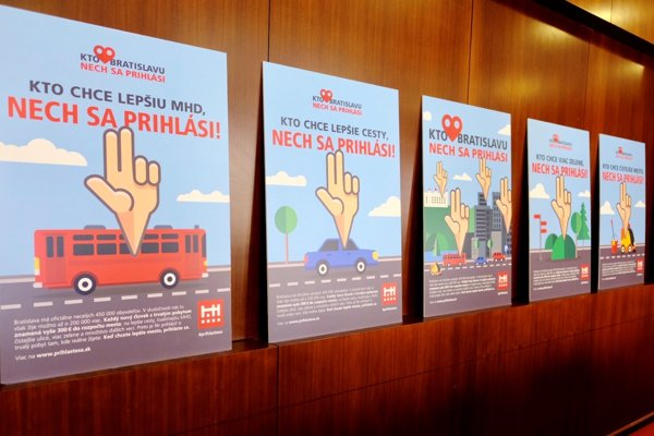 Posters of the campaign Prihláste sa! (Register!)