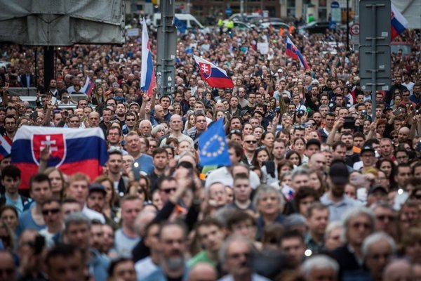 One of the street protests