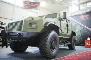 Project of armoured tactical vehicle 4x4 Gerlach at IDEB 2018. Bratislava, 16. máj 2018.