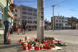 Remembrance site for Henry, Obchodná Street, Bratislava.