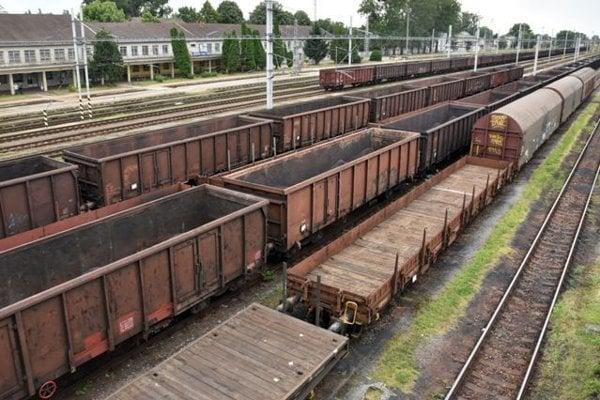 The trans-shipment point between the narrow-gauge and broad-gauge railways, Čierna nad Tisou, Slovakia.
