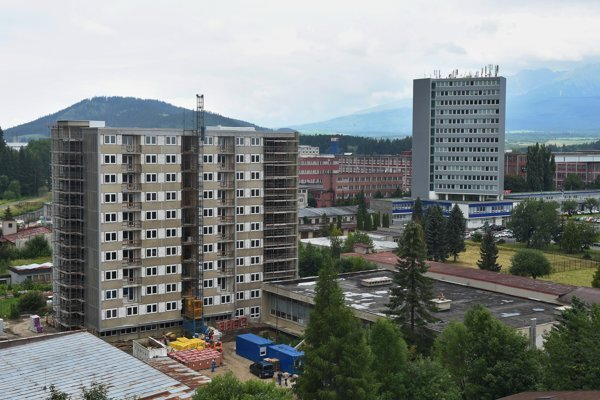 Town of Svidník is rebuilidng a former dormitory into municipal rental apartments.