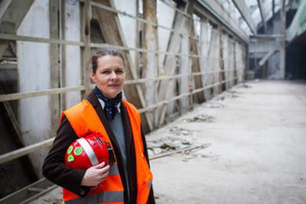 Head of the Slovak National Gallery, Alexandra Kusá, can show you around the gallery, currently under construction.