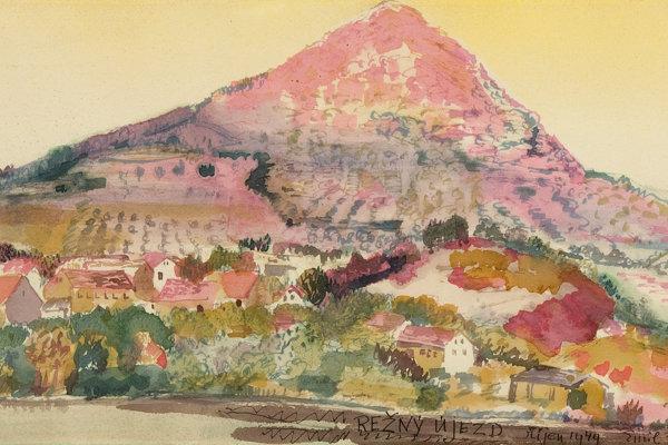Emil Filla: Lovoš – Režný Újezd. 1949. Gallery of the Capital of Prague