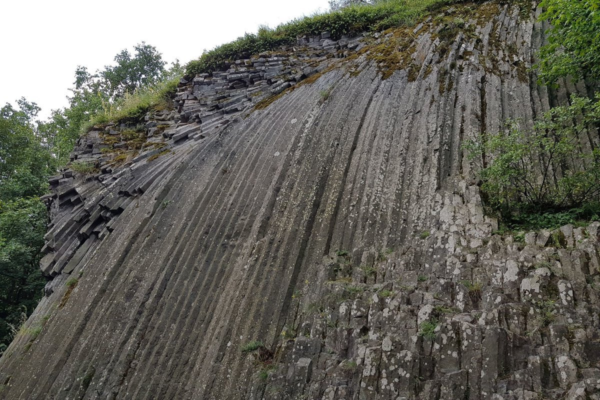 Unique stone waterfall is located on Slovak-Hungarian border ...