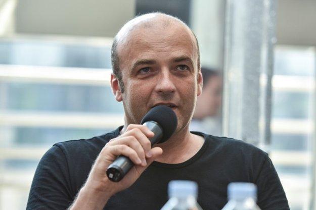 Rastislav Štúr at a press conference in SND, May 2018.