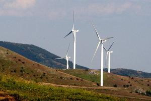 One of few wind turbines in Slovakia,