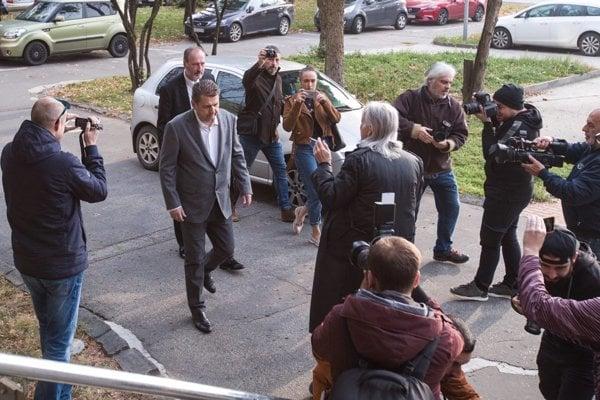 Ladislav Bašternák arrives at court on November 7.