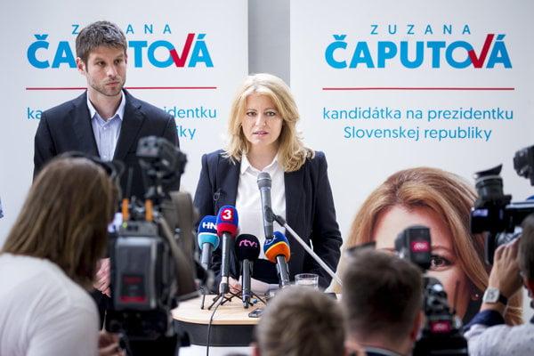 Zuzana Čaputová runs for the president.