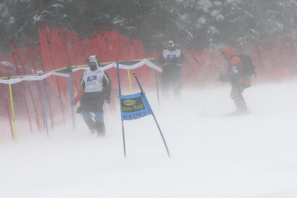 Giant slalom postponed to Monday.
