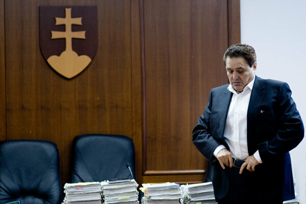 Businessman Jozef Majský during the trial in February 2010.