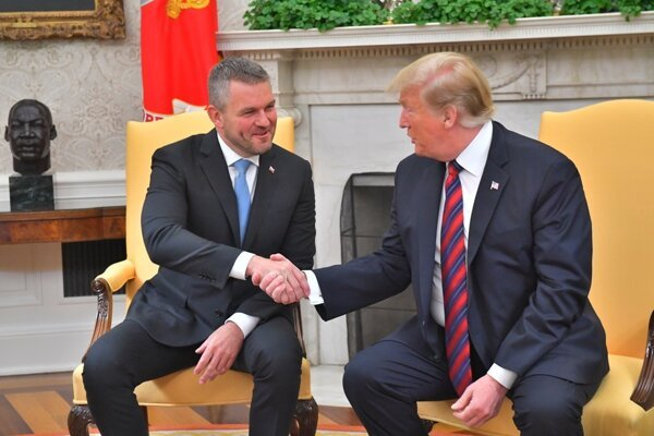 Slovak PM Peter Pellegrini and US President Donald Trump met on May 3 in the White House.