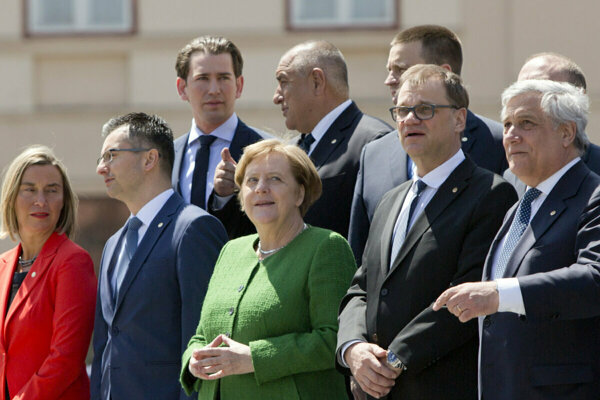 Leaders of some EU member states in Sibiu, Romania.