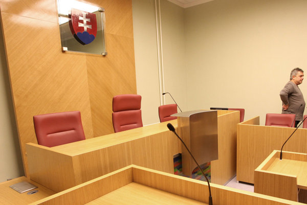 Courtroom, illustrative stock photo