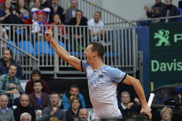 Slovak doubles tennis player Filip Polášek plays the Wimbledon doubles semi-finals, with his partner Ivan Dodig, on July 11.