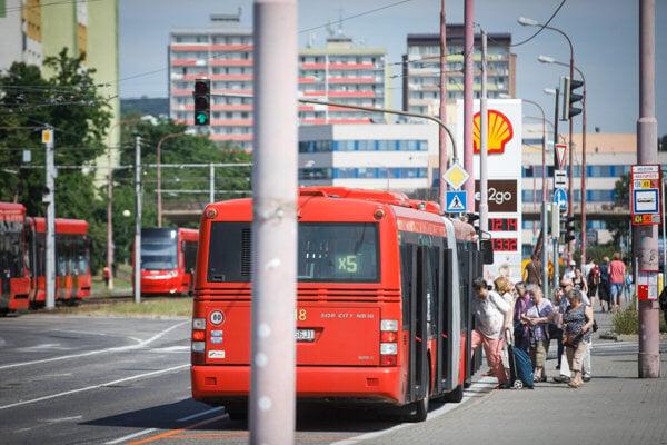 The Bratislava public transport drivers' warning strike takes place on September 2, 2019.