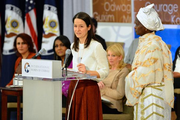 2016 International Women of Courage Award Winner Zuzana Števulová of Slovakia Delivers Remarks at the Award Ceremony.