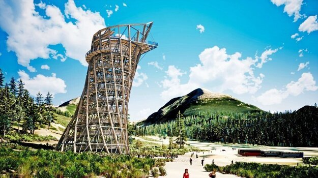 A treetop walkway is being constructed in the Štrbské Pleso resort. Yet, the public was not involved in the debate.