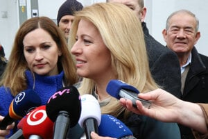 President Zuzana Čaputová voted in Pezinok (Bratislava Region).