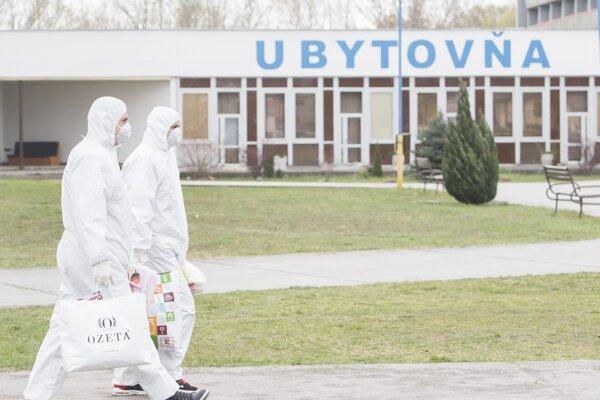 The quarantine centre in Gabčíkovo.