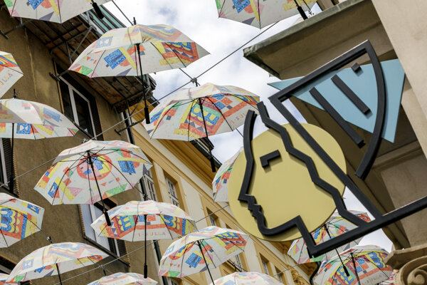 The umbrellas returned to Bratislava in May 2020, making the capital even more artistic.
