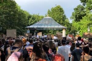 Black Lives Matter gathering in Bratislava on June 13.