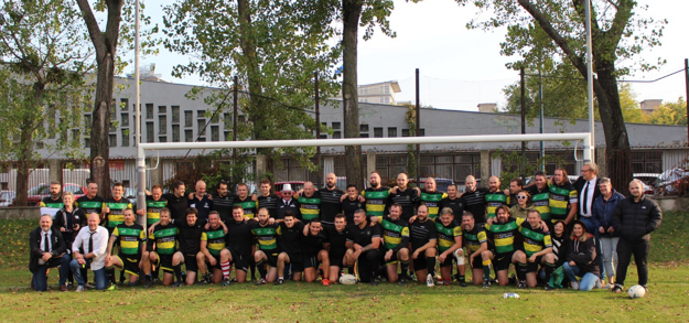 Rugby players in Bratislava.