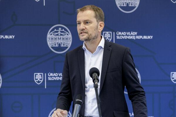 PM Igor Matovič at September 19 press conference.