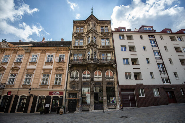 The Salvator Pharmacy building in Bratislava.