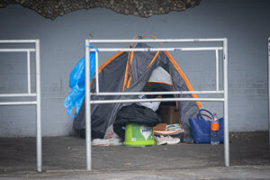 Homeless people are camping near Pentagon. The locals call this area