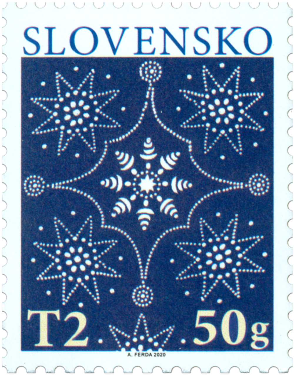 2020 Christmas stamp from Slovenská Pošta, author Adrian Ferda