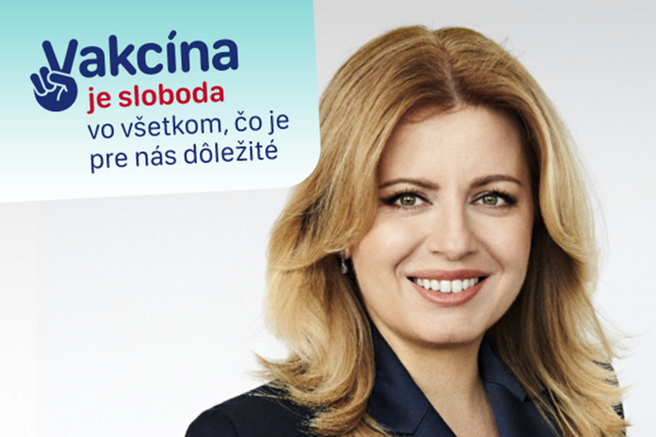 President Zuzana Čaputová is one of the faces of the new vaccination campaign.