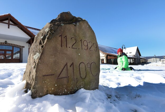 In the place where the Masarykov dvor equestrian and sports area, located in the settlement of Vígľaš-Pstruša, central Slovakia, stands today, the lowest temperature in the entire history of Slovakia, – 41°C, was measured on February 11, 1929.