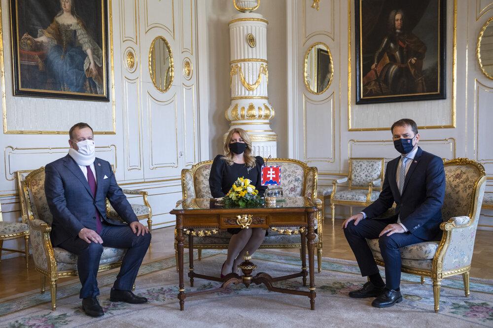 Boris Kollár, Zuzana Čaputová and Igor Matovič