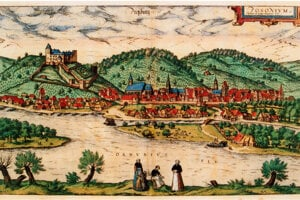 Prešporok as pictured at the end of the 16th century.