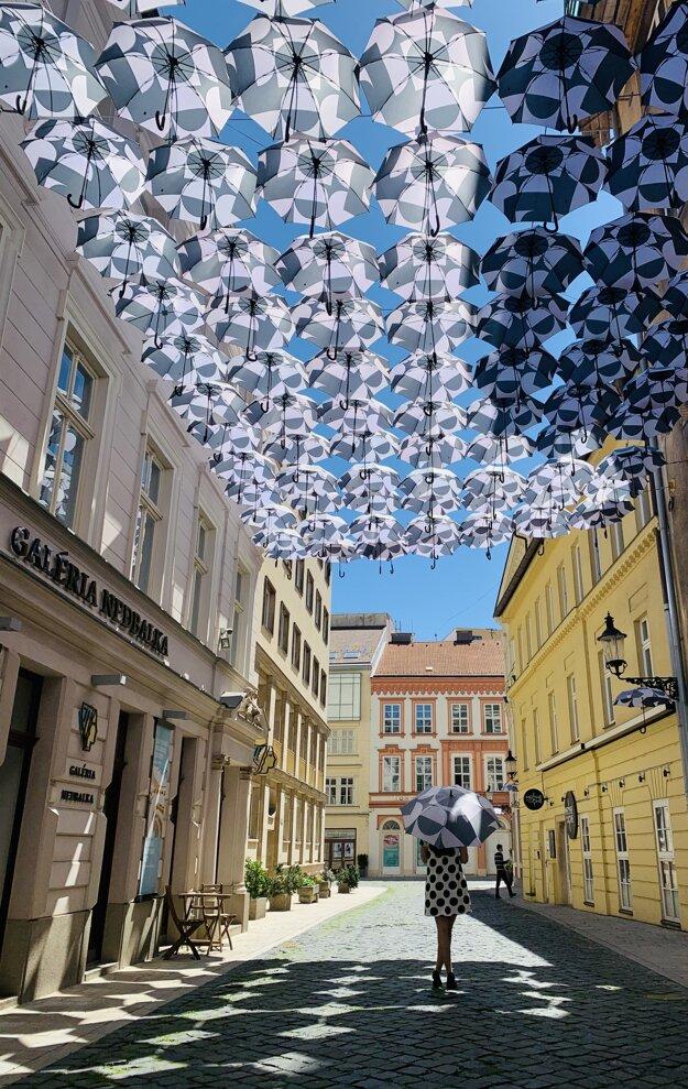 The Umbrella Street near Nedbalka Gallery