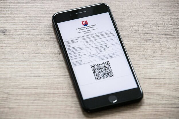 Vaccination certificate can be downloaded on the smartphone.