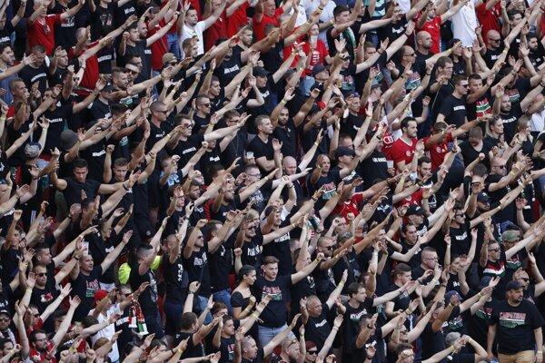 Tens of thousands of fans attended the match between Hungary and Portugal in Budapest.