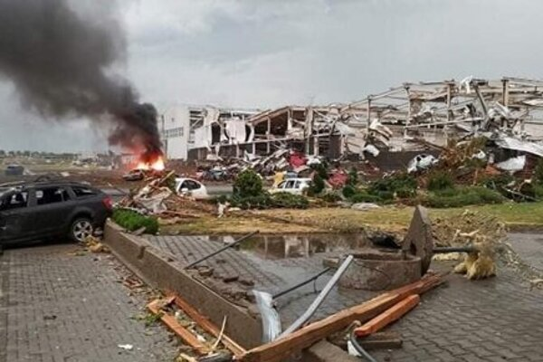 Vast damage after the supercell storm in southern Moravia.