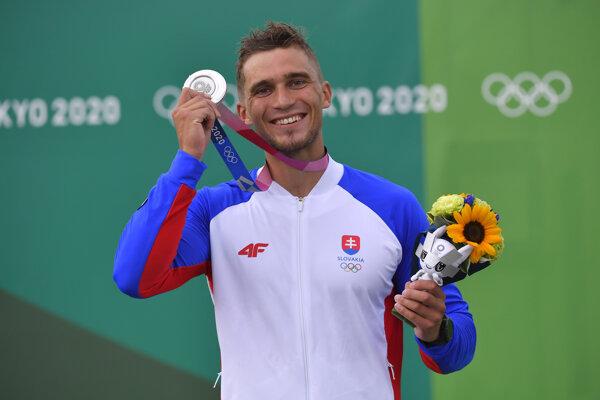 Jakub Grigar won the silver medal in men's slalom K-1 at the 2020 Summer Olympics in Tokyo.