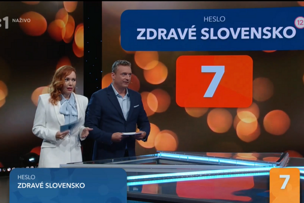 """The catchphrase """"Healthy Slovakia"""" was on the screen only for 20 seconds, Zuzana watching it online with lagged broadcast had no chance to said it on time."""